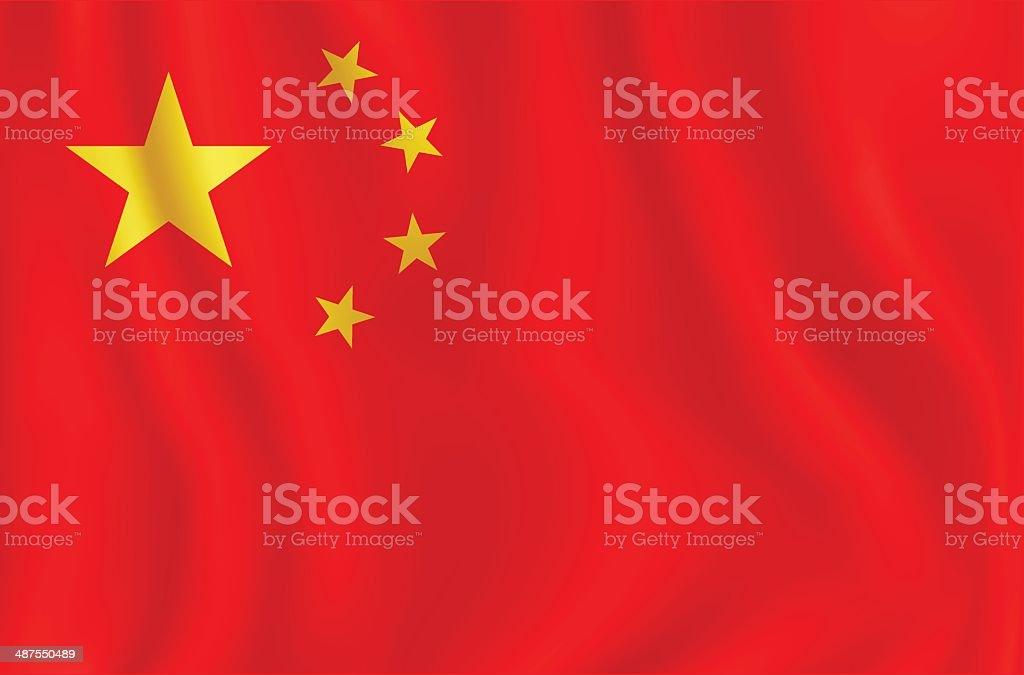 Flag Of Chine vector art illustration