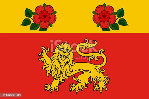 istock Flag of City Athlone of Ireland 1266836108
