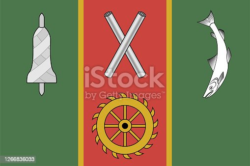 istock Flag of City Balbriggan of Ireland 1266836033