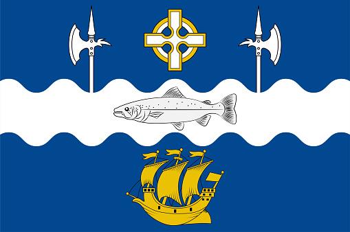 Flag of City Ballina of Ireland