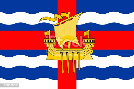 istock Flag of City Loughrea of Ireland 1266836050
