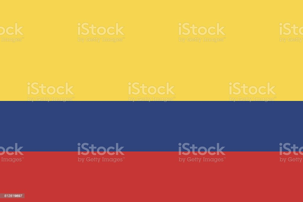 Flag of Colombia vector art illustration