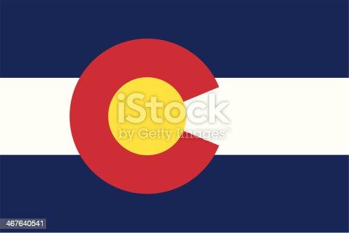 istock Flag of Colorado 467640541