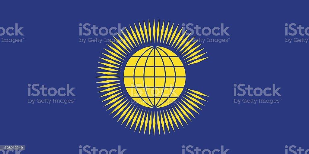 Flag of Commonwealth vector art illustration