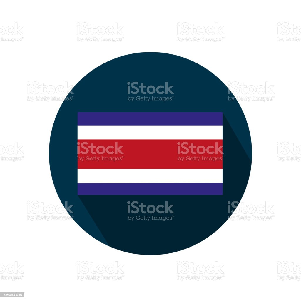 Flag of Costa Rica on a white background. Vector illustration.