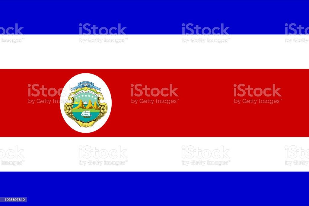 Drapeau du Costa Rica - Illustration vectorielle