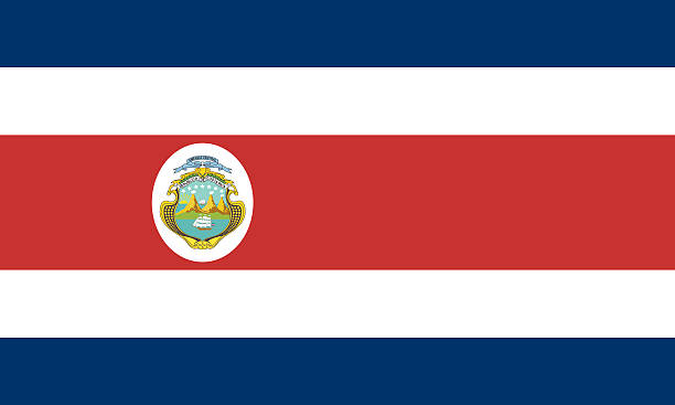 Flag of Costa Rica vector art illustration