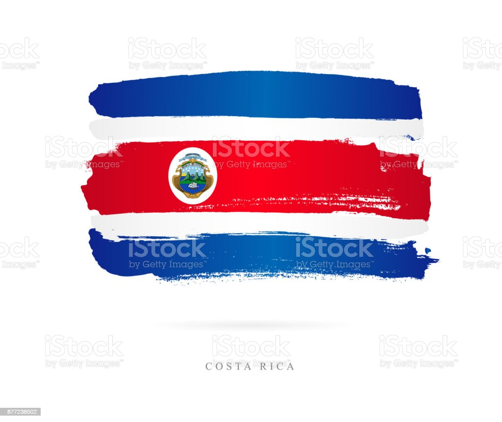 Flagge von Costa Rica. Vektor-illustration – Vektorgrafik
