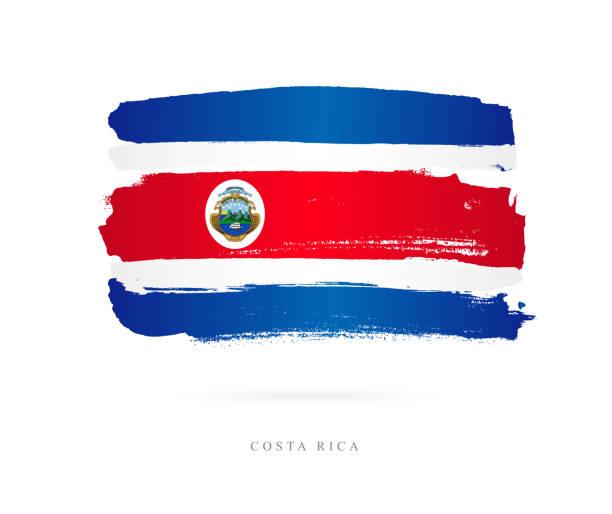 Flagge von Costa Rica. Vektor-illustration – Vektorgrafik