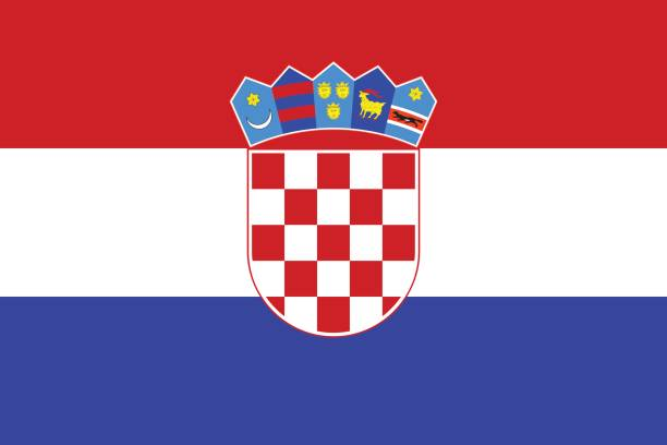 Flag of Croatia Flag of Croatia croatian culture stock illustrations