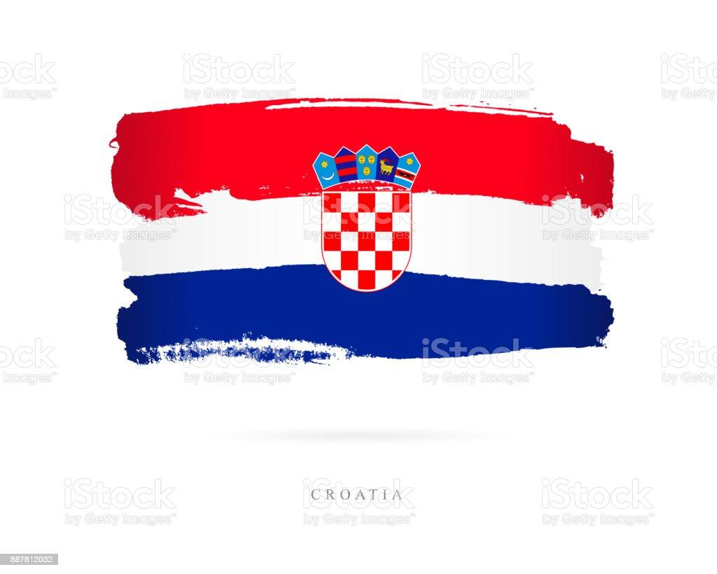 Bandera de Croacia. Ilustración de vector - ilustración de arte vectorial