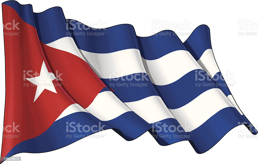 Flag of Cuba vector art illustration