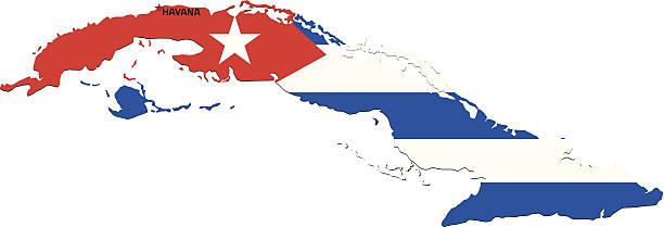 Bandera de Cuba - ilustración de arte vectorial