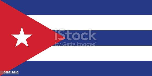 istock Flag of Cuba vector illustration 1049717640
