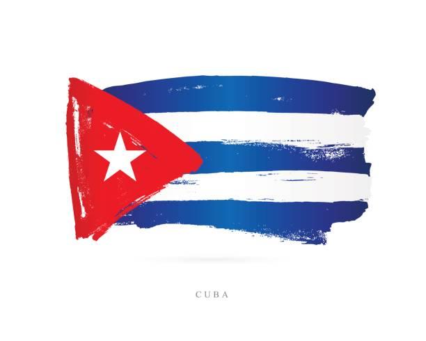 Bandera de Cuba. Ilustración de vector - ilustración de arte vectorial