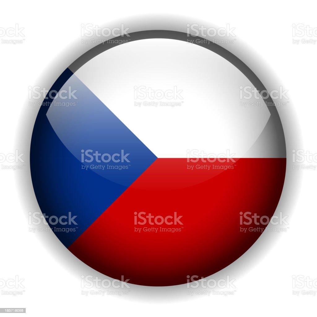 Flag of Czech Republic button, vector royalty-free stock vector art