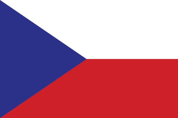 flag of czech republic - republika czeska stock illustrations