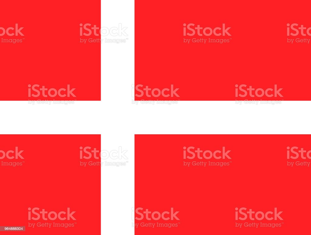 Flag of Denmark. National Denmark flag, vector illustration royalty-free flag of denmark national denmark flag vector illustration stock vector art & more images of accuracy