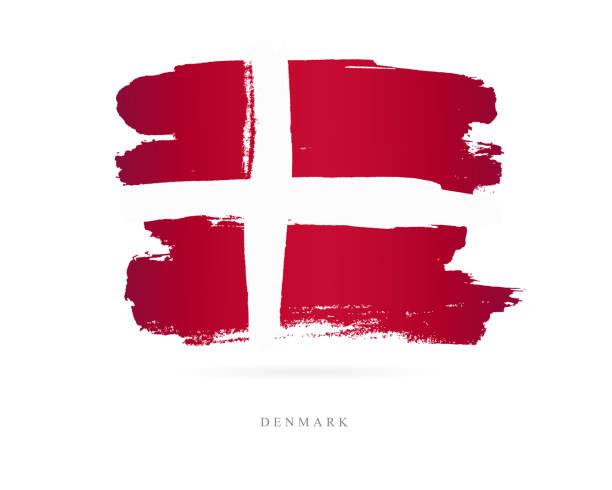 flagge von dänemark. vektor-illustration - ostsee stock-grafiken, -clipart, -cartoons und -symbole