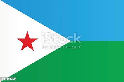 istock Flag of Djibouti 537868229