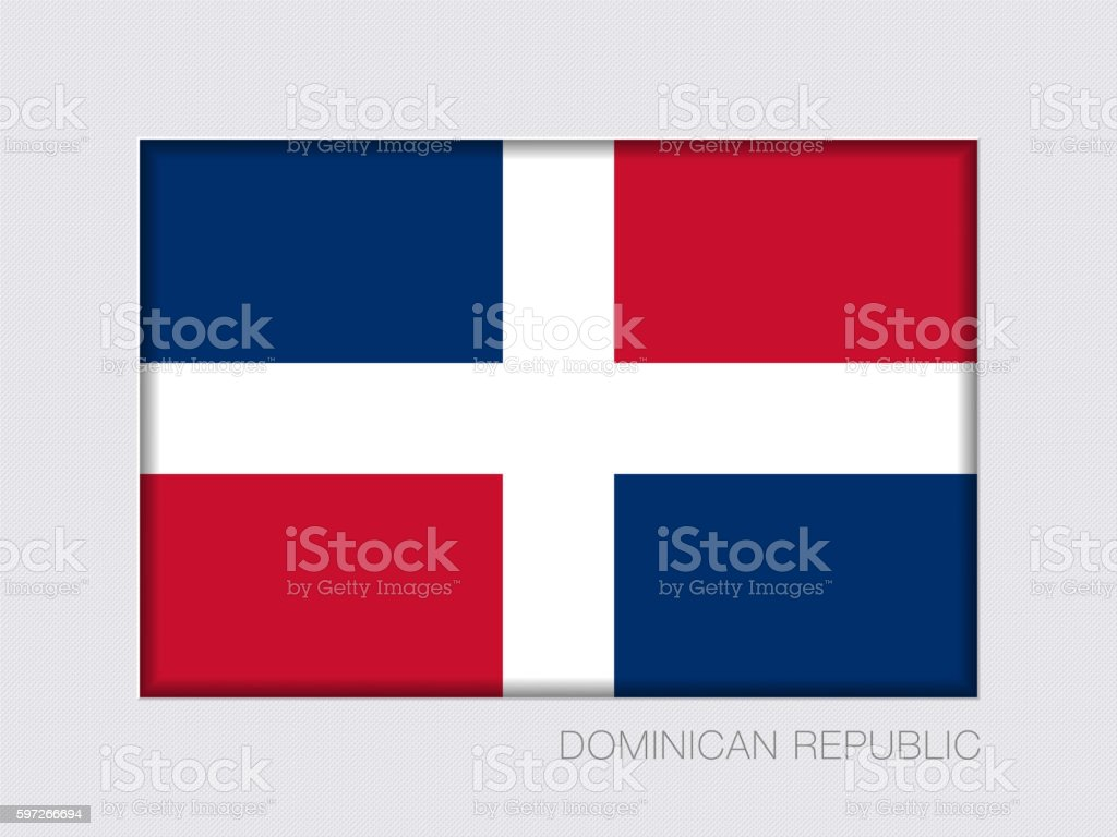 Flag of Dominican Republic. Rectangular Official Flag with Propo royalty-free flag of dominican republic rectangular official flag with propo stock vector art & more images of backgrounds