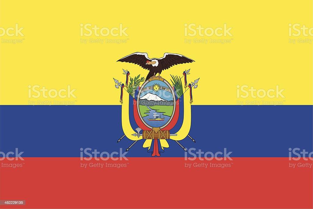 Flag of Ecuador vector art illustration