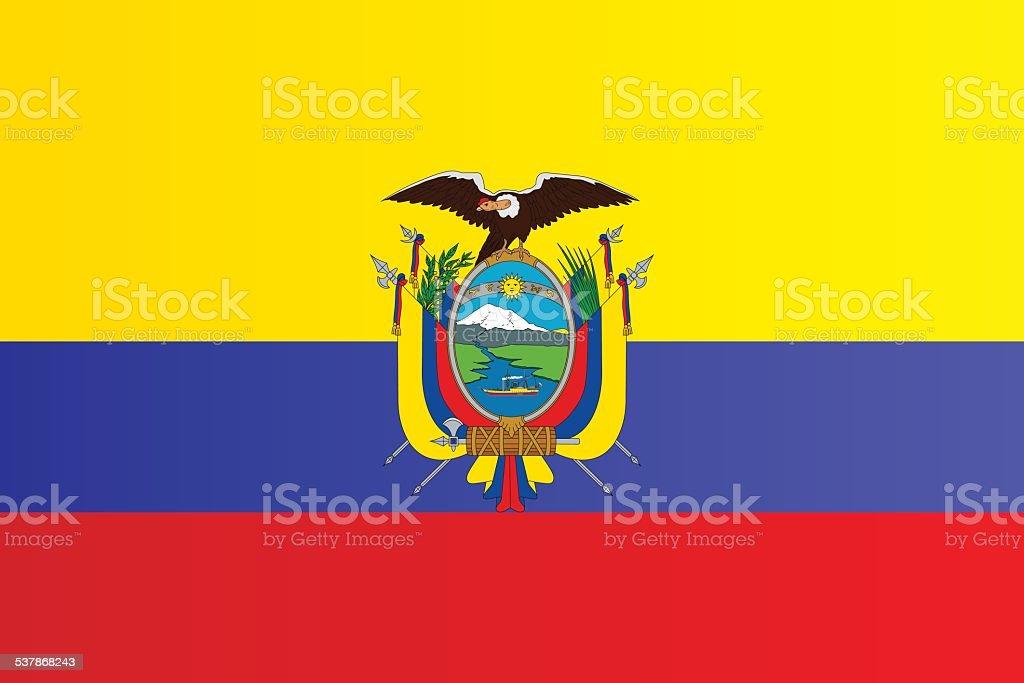 Bandeira do Equador - ilustração de arte em vetor