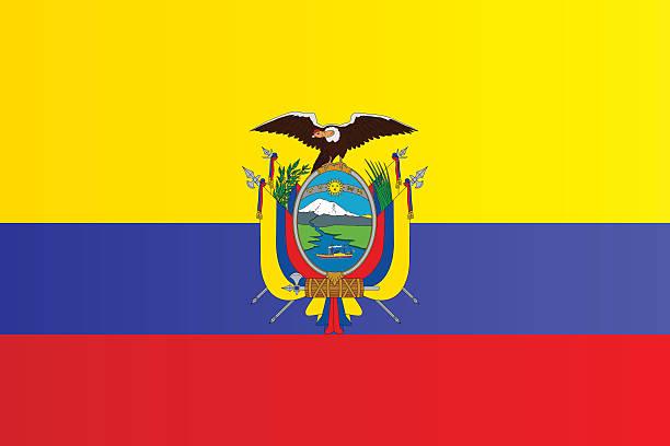 エクアドルの国旗 ベクターアートイラスト