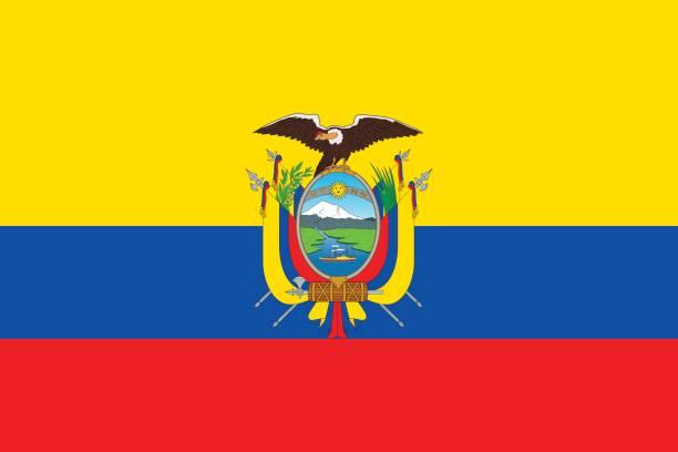 ilustraciones, imágenes clip art, dibujos animados e iconos de stock de bandera de ecuador - bandera de ecuador