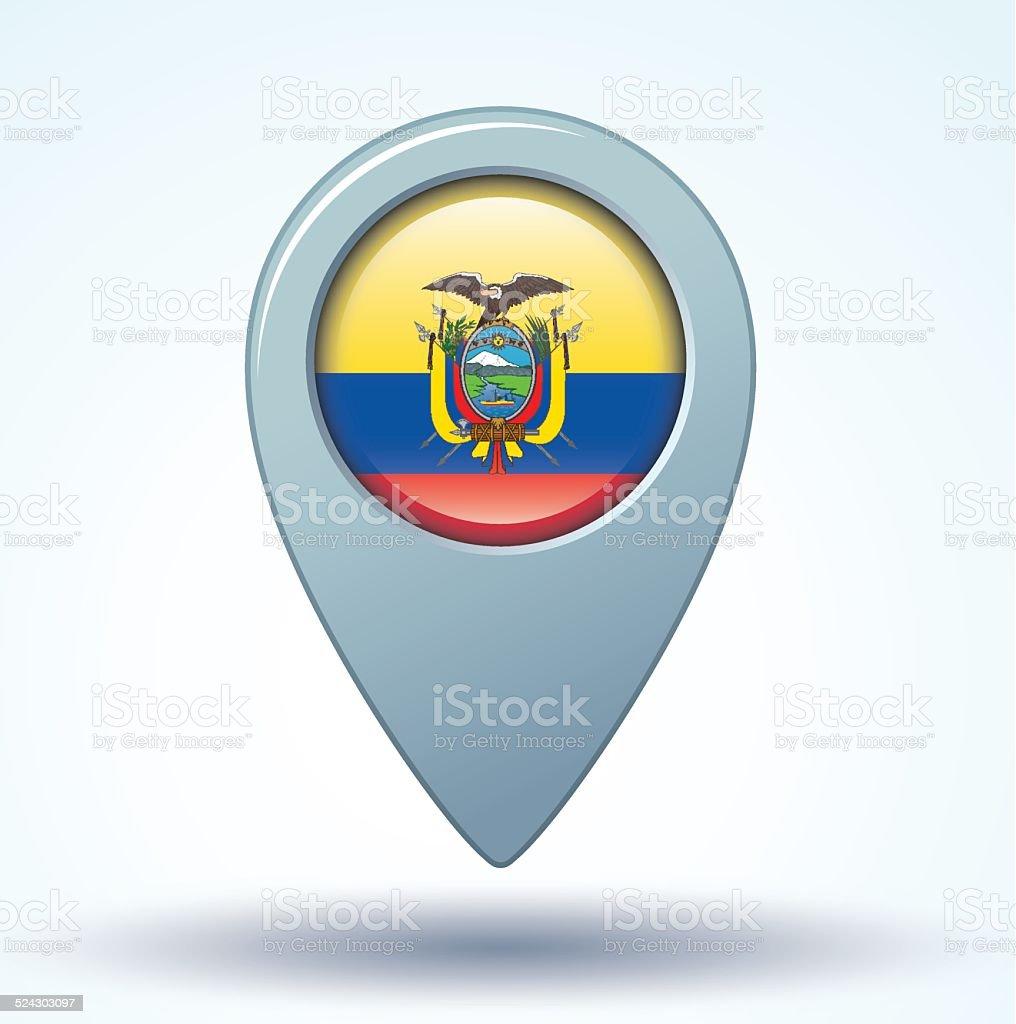 Drapeau de l'Équateur, illustration vectorielle - Illustration vectorielle