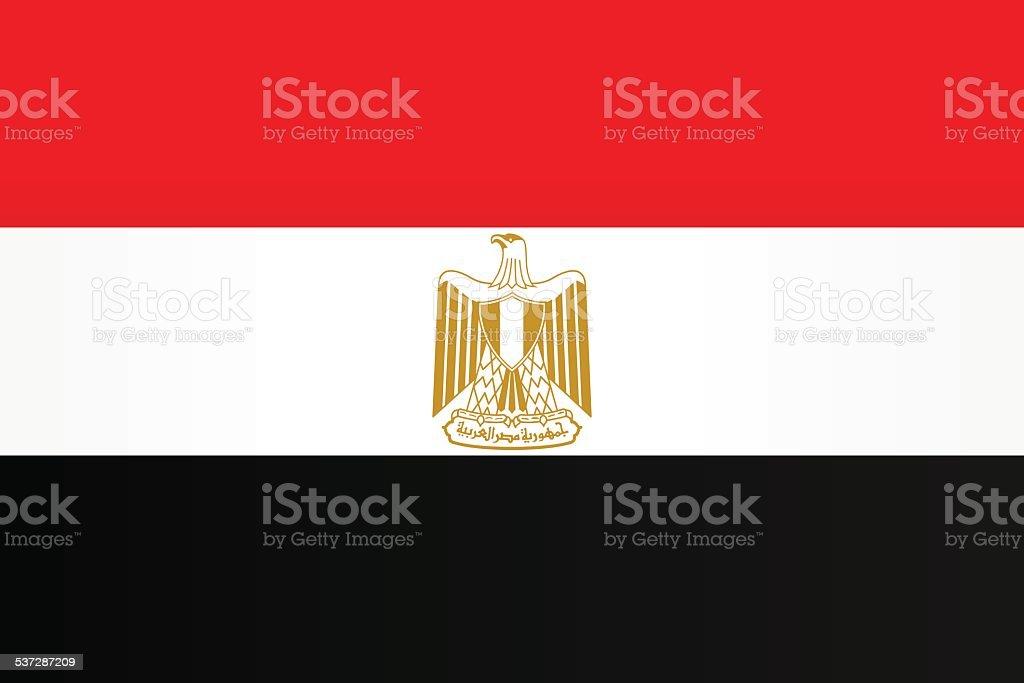 Flag of Egypt vector art illustration