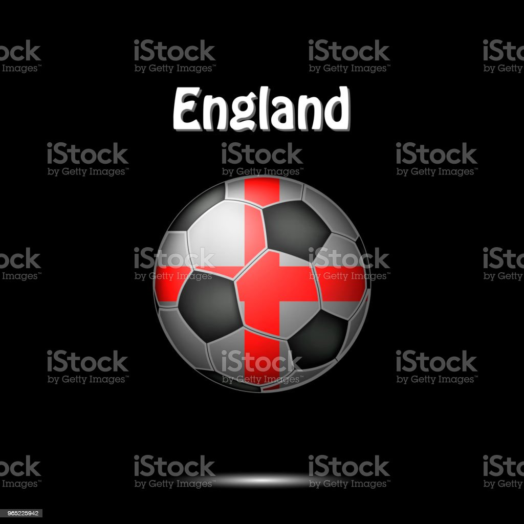 Flag of England in the form of a soccer ball royalty-free flag of england in the form of a soccer ball stock vector art & more images of abstract