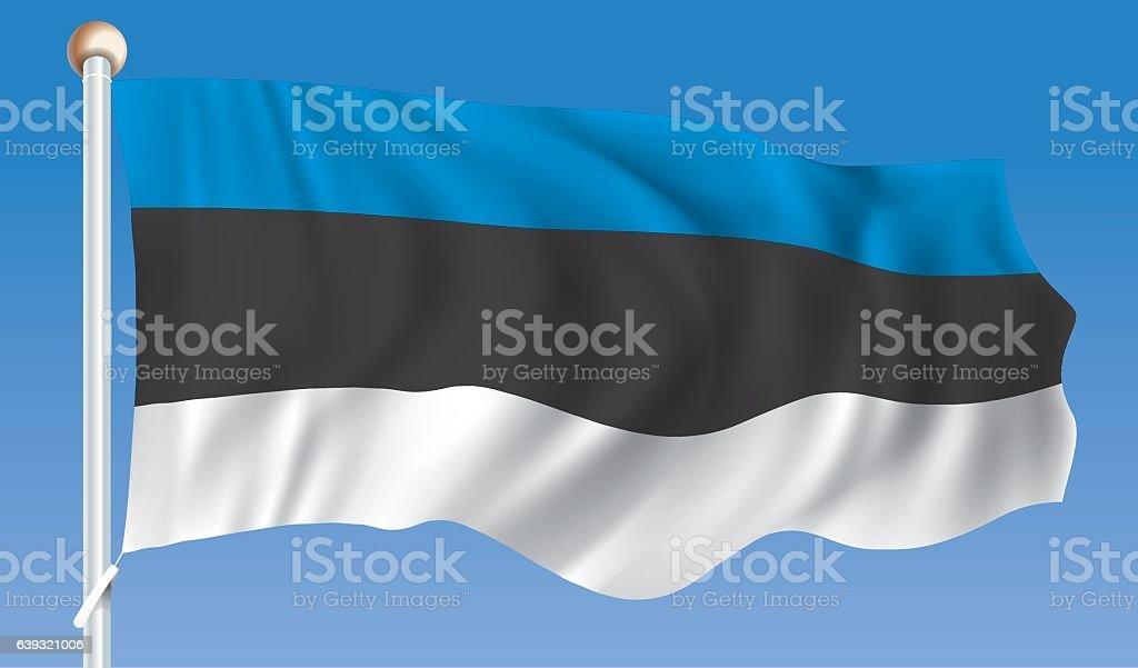 Flag of Estonia vector art illustration