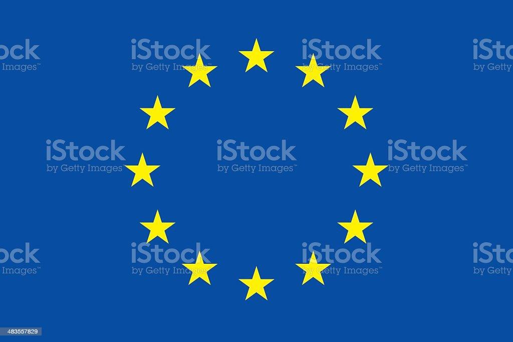 Flag of Europe vector art illustration
