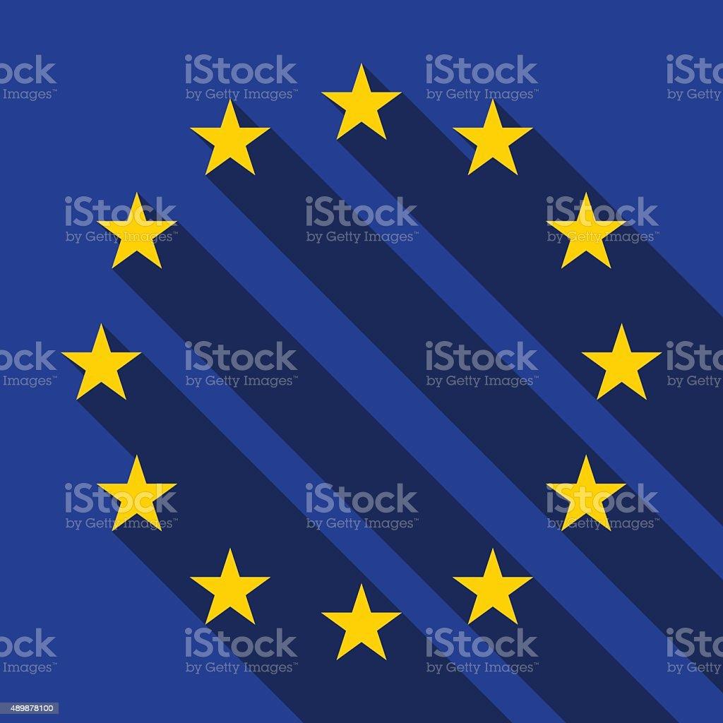 Flag of Europe, vector vector art illustration