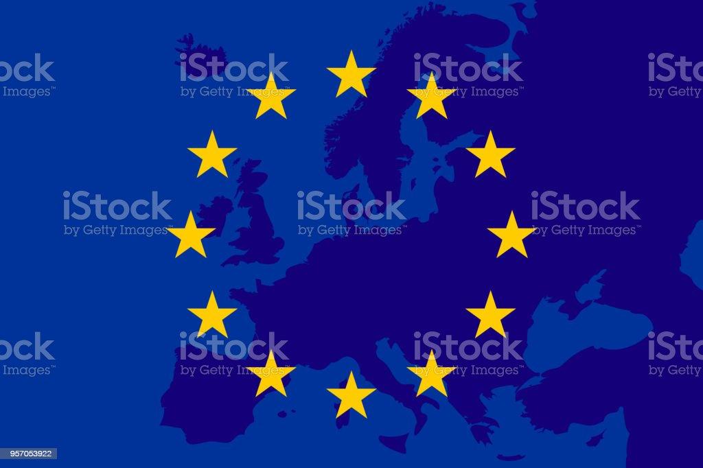 flag of European Union. Europe background. Eu sing. Vectror