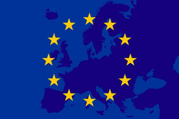 illustrations, cliparts, dessins animés et icônes de drapeau de l'union européenne. historique de l'europe. chanter l'union européenne. vectror - cartes et drapeaux