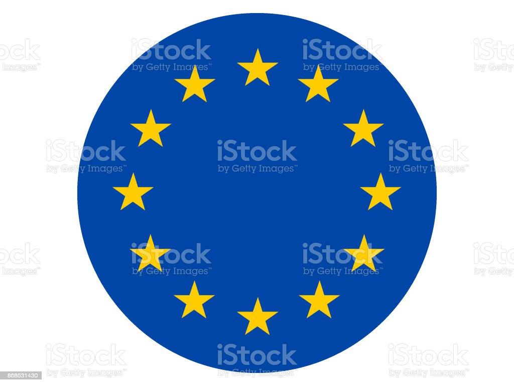 Avrupa Birliği bayrağı vektör sanat illüstrasyonu