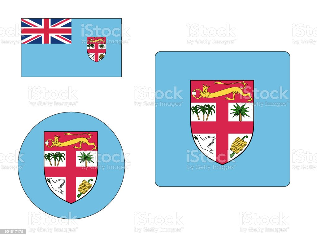 Flag of Fiji Set royalty-free flag of fiji set stock vector art & more images of backgrounds