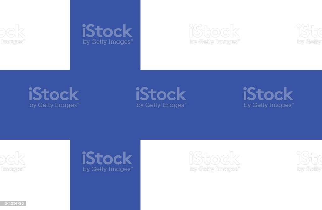Flag of Finland vector art illustration