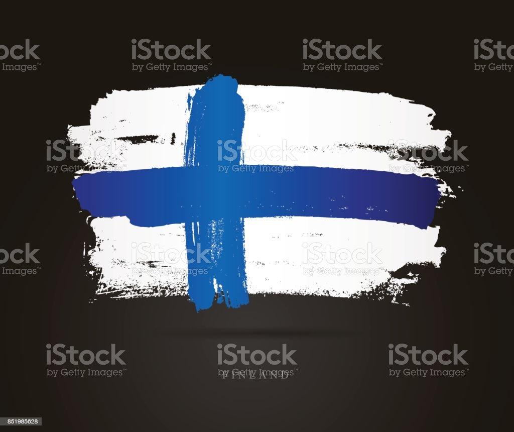 Flagge von Finnland. Vektor-illustration – Vektorgrafik