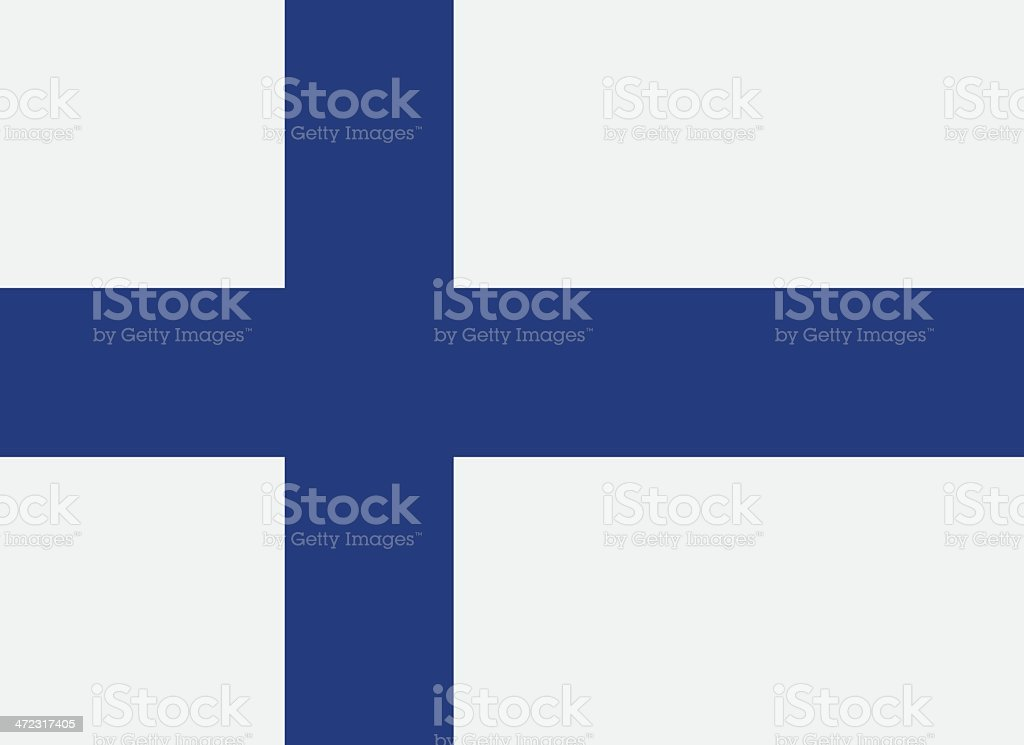 A flag of Finland with a blue cross vector art illustration
