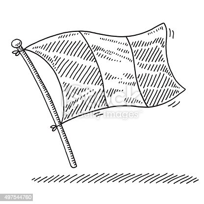 istock Flag Of France Drawing 497544760