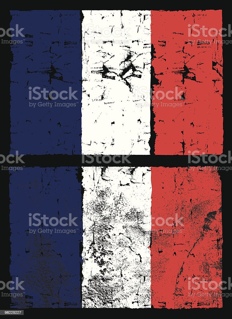 Flag of France, Grunge Style royalty-free flag of france grunge style stock vector art & more images of backgrounds