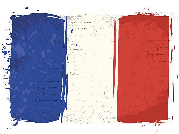 ilustraciones, imágenes clip art, dibujos animados e iconos de stock de bandera de francia en pared - bandera francesa