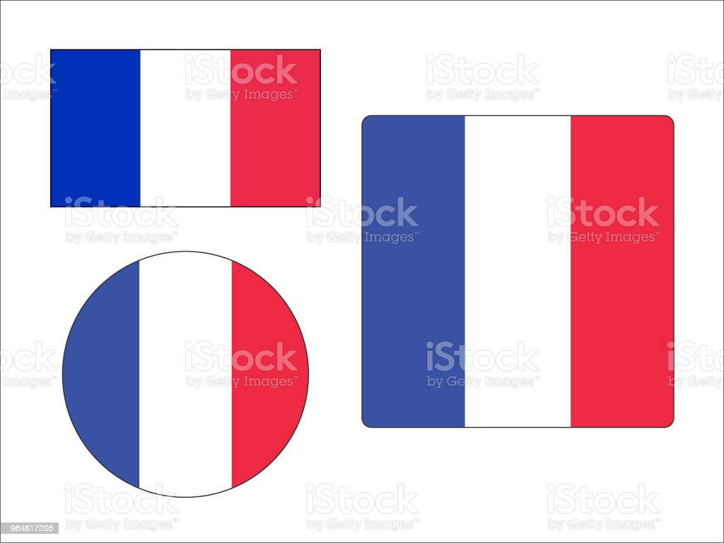 Flag of France Set royalty-free flag of france set stock vector art & more images of circle