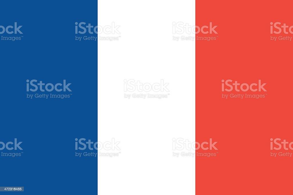 Bandera de Francia - ilustración de arte vectorial