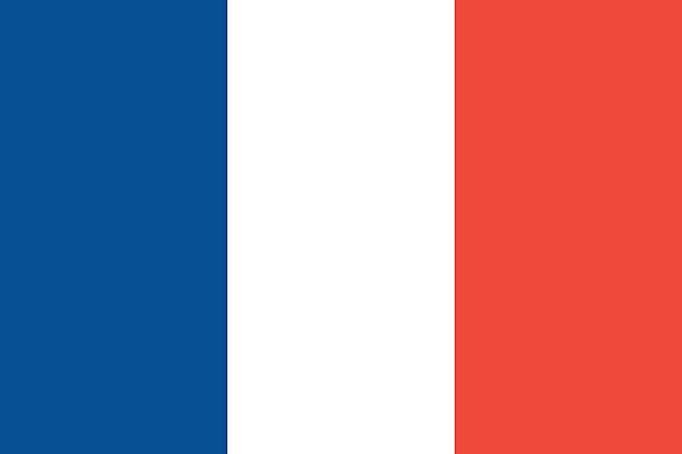 フランスの旗 ベクターアートイラスト