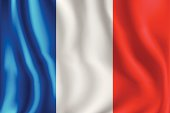 Flag of France.  You can easily reduce the contrast and shadow effect by turning off one mesh layer.