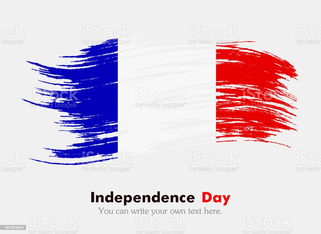 Flag of France vector art illustration